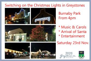 Switching on the Christmas Lights in Greystones @ Burnaby Park