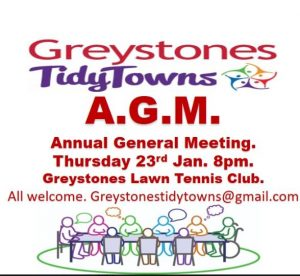 Greystones Tidy Towns AGM @ Lawn Tennis Club