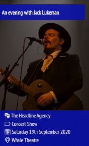 An evening with Jack Lukeman @ Whale Theatre