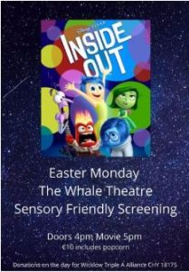 Triple A Wicklow Kids Screening - Inside Out @ Whale Theatre